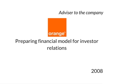 Financial model for Orange Polska / Telekomunikacja Polska