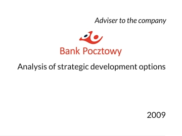 Strategic options for Bank Pocztowy