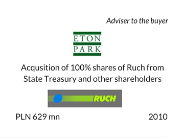 Acquisition of Ruch by Eton Park