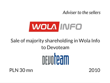 Sale of Wola Info to Devoteam