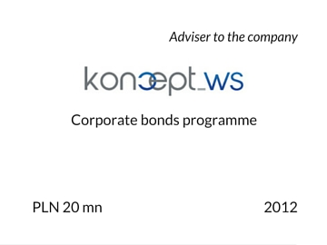 Corporate bonds by Koncept WS