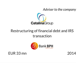 Restructuring of debt in Catalina Group