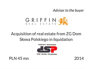 Acquisition of real estate by Griffin