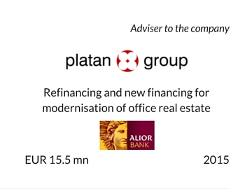 Refinancing Platan Group 2015