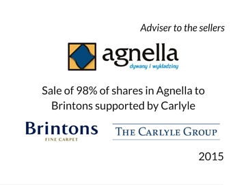 Sale of Agnella to Brintons