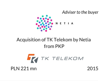 Acquisition of TKT by Netia
