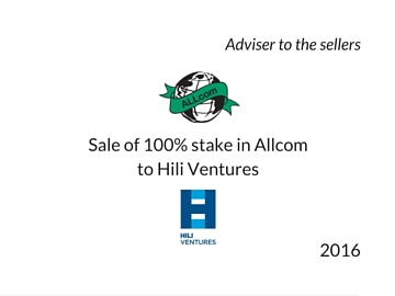 Sale of Allcom to Hili Ventures