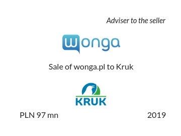 Sale of wonga.pl to Kruk SA